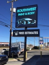 SW Paint and Body - new sign