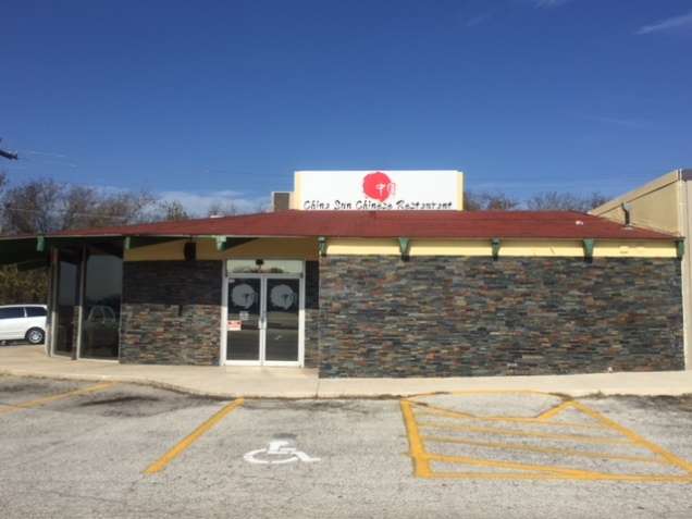 China Sun Restaurant - facade and signage renovation